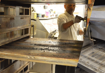 Before Simmons Restaurant Oven Cleaning